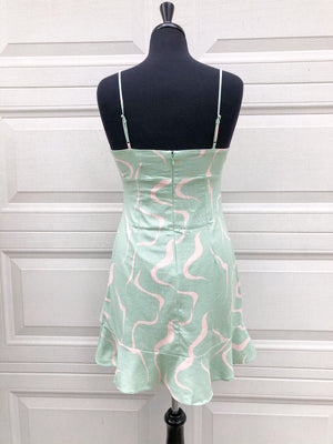The Charleston Dress- Mint/Pink
