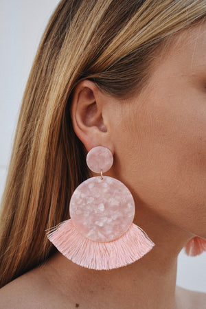 Pink Lady Statement Earring