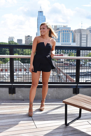 Richelieu Ave Romper -Black