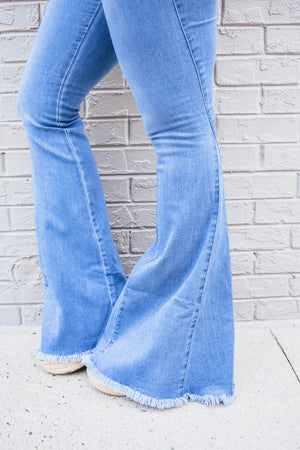 Bailey Bell Bottom Jeans- Denim