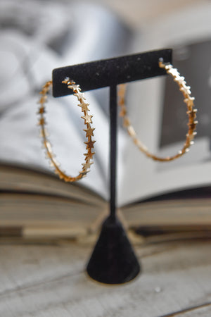 10,000 Stars Hoop Earrings