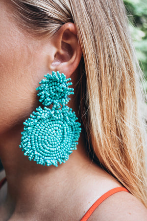Lola Statement Earrings- turquoise