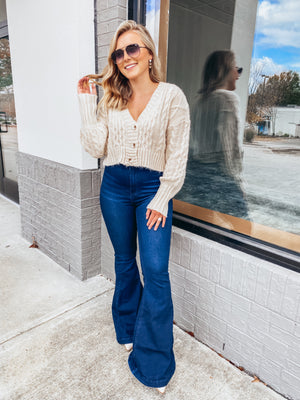 Fall is Calling Cropped Sweater- Oatmeal