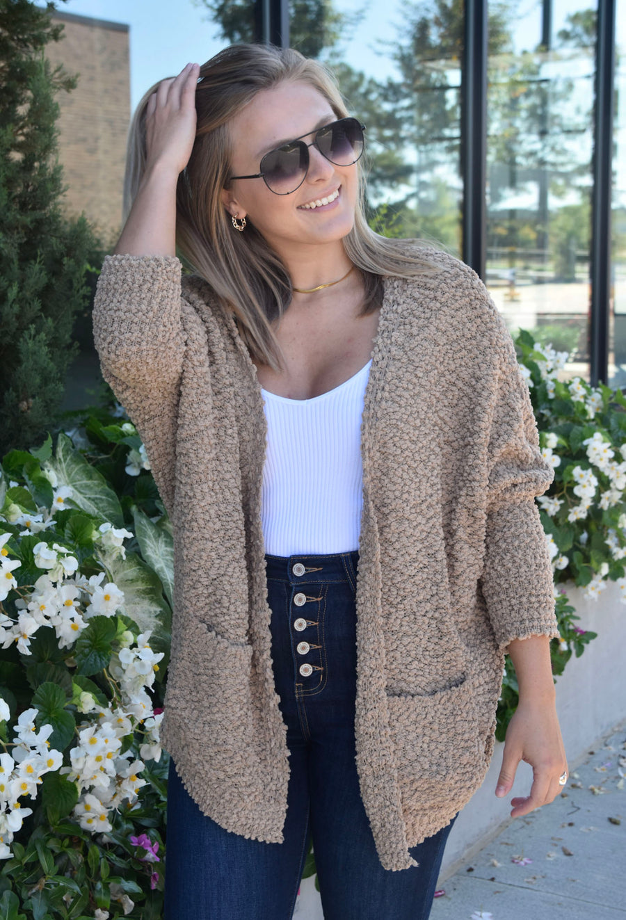 The Cuddle Me Cardigan- Mocha