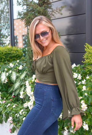 The Eden Top- Olive
