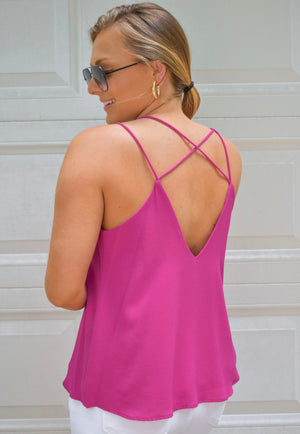The Cindy Top- Fuchsia