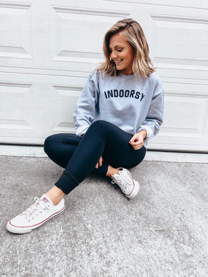 Indoorsy Sweatshirt- heather grey