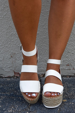 Summer Feelings Platform Wedge - White