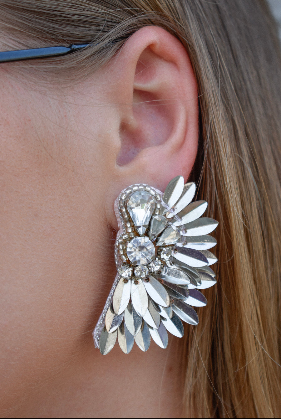 Katie statement earrings -Silver