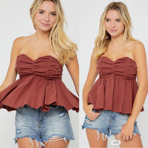 The Sweetheart Strapless Top