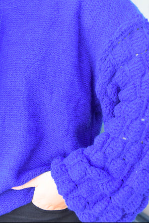 The Wallace Sweater- Cobalt Blue