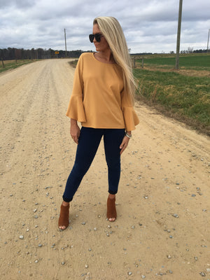 Golden Girl Bell Sleeve Top