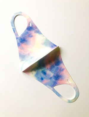 Blue and Pink Tie Dye Reusable Mask -Final sale