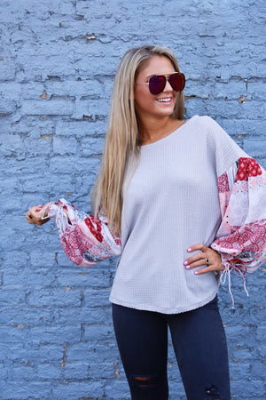 Most Wanted Waffle Knit Top