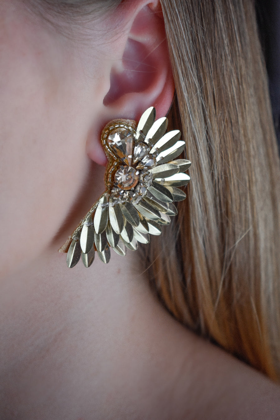 Katie Statement Earring -Gold