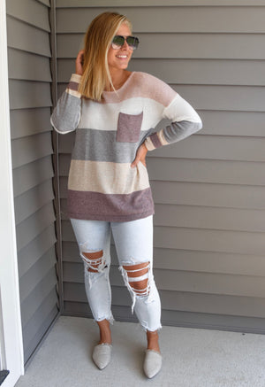 The Kaci Striped Sweater