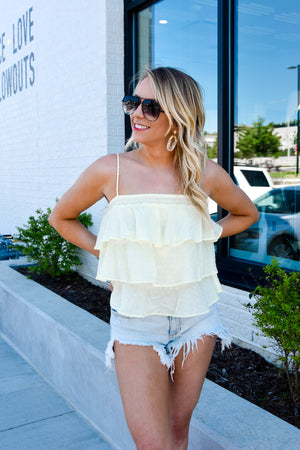 Lemon Drop Tiered Top