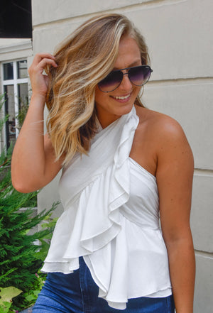 The Kate Halter Top- White