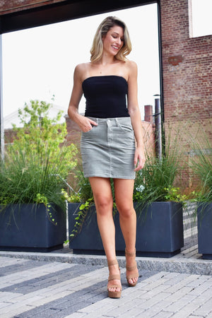 French Grey Mini Skirt