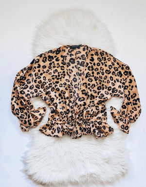 Blushing Leopard Blouse