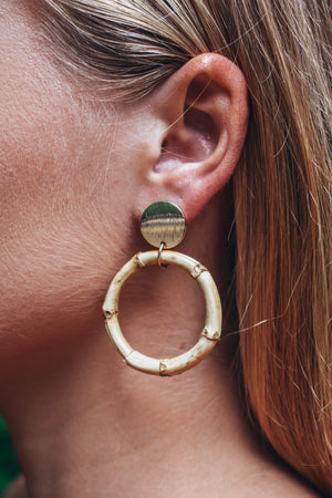 Bamboo Earrings -Gold