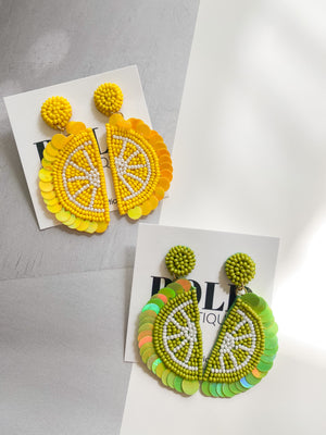 Lemon and Lime Statement Earrings