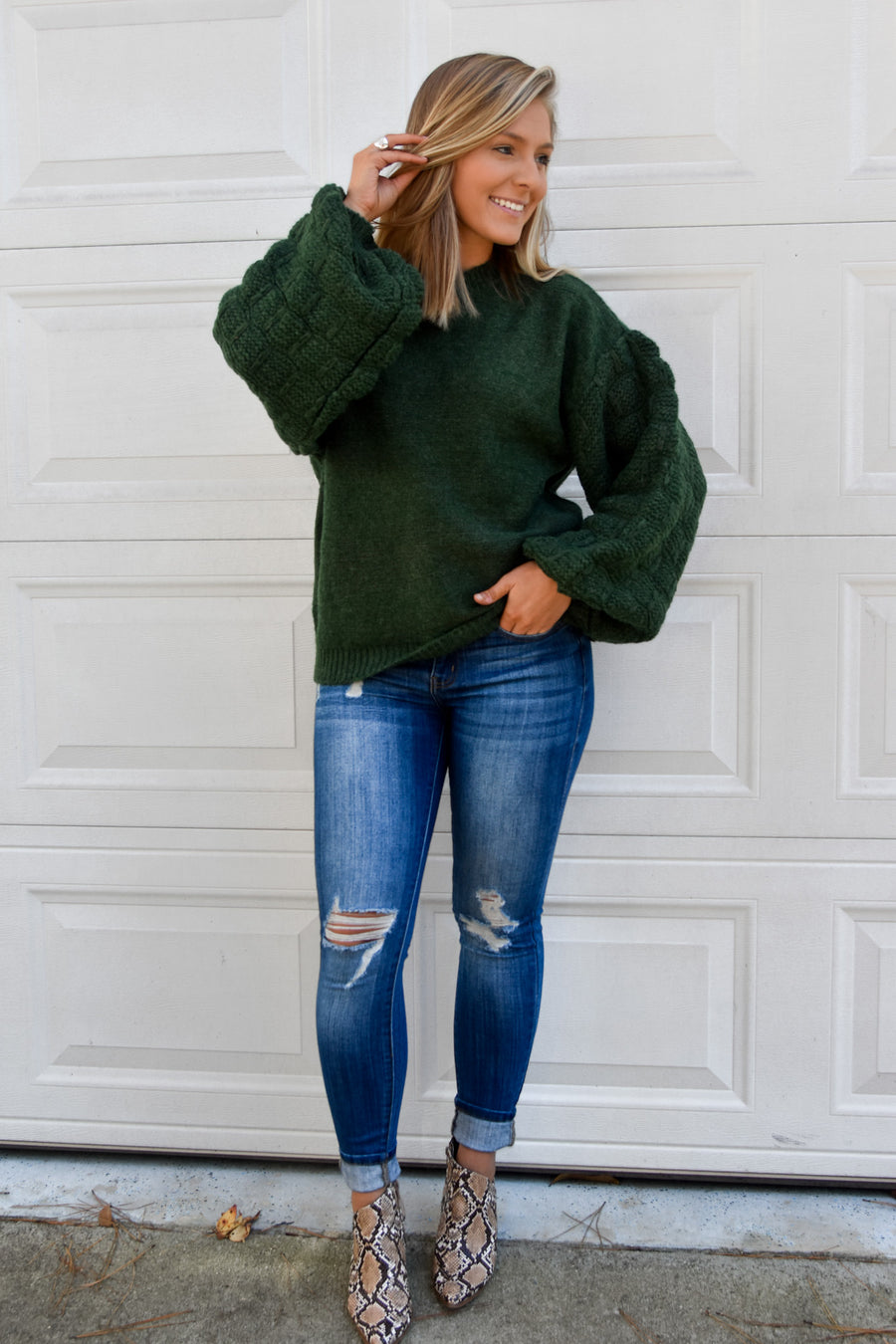 Ella Sweater- Dusty Green