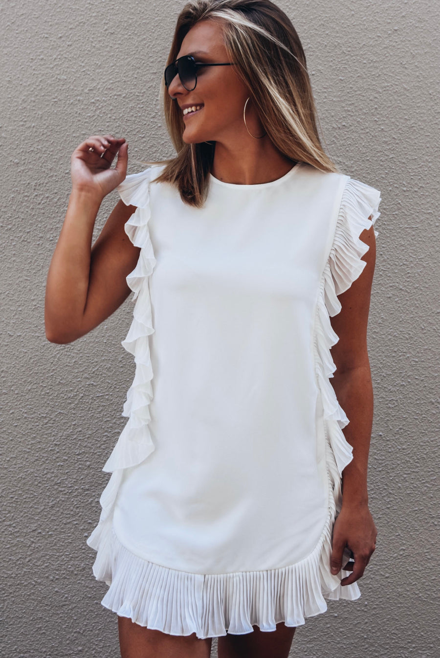 The Life Milestones Dress- White