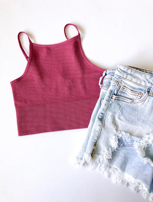 The Rosie Seamless Crop Tank