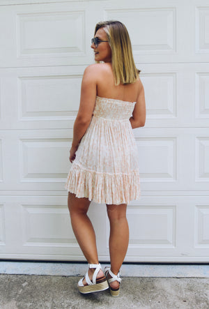 The Luna Dress- Blush Snake Print