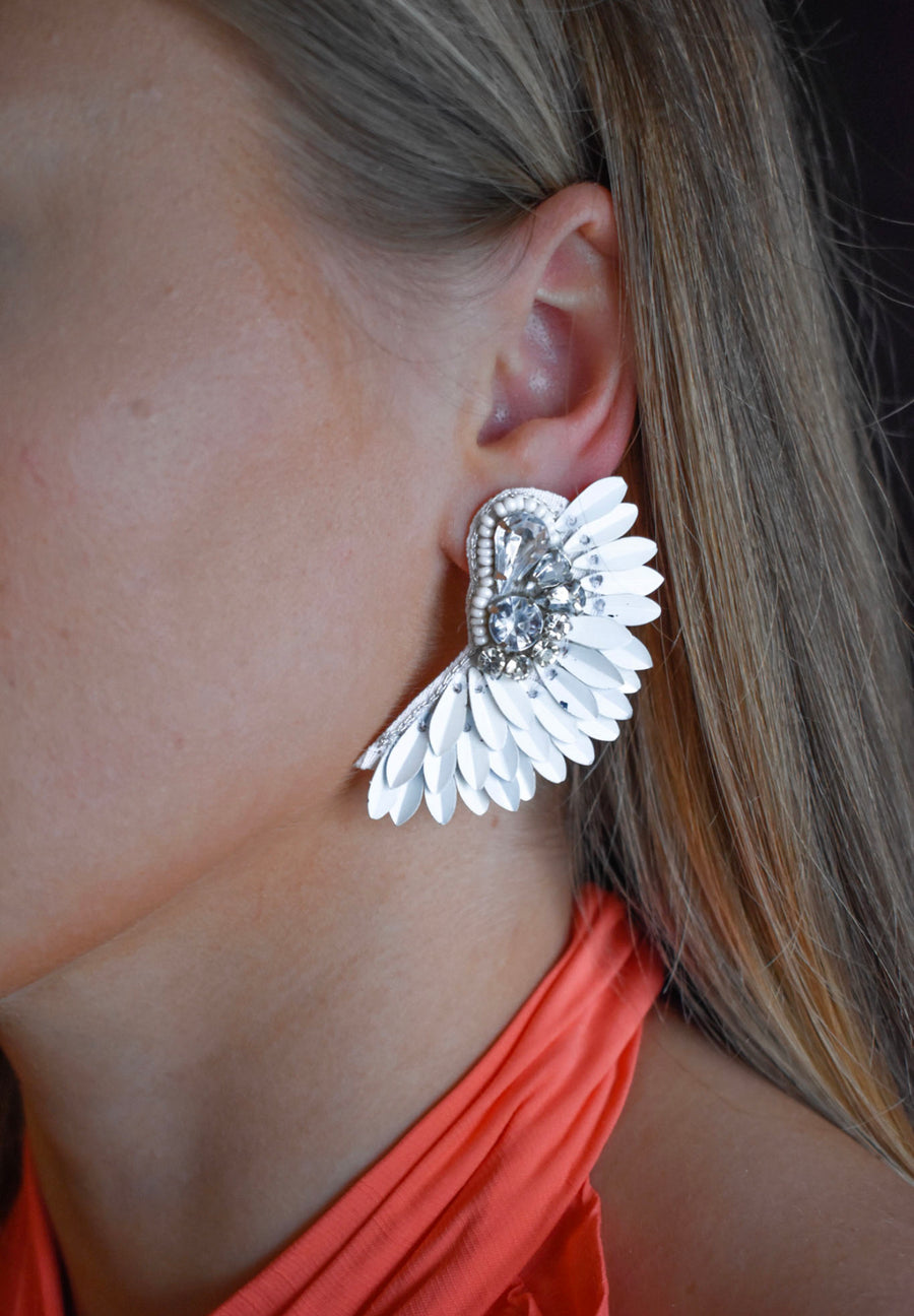 Katie Statement Earrings- white