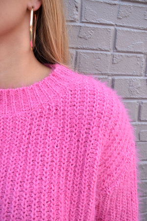 The Birthday Sweater- Hot Pink