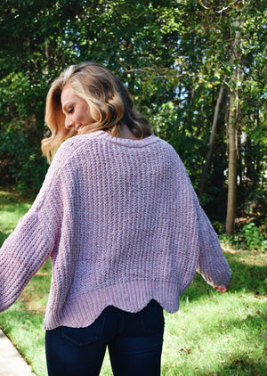On The East Side Pullover- Light Pink