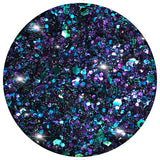 182 WICKED Let your dark-side out! A black blend, with a green/purple shimmer, and chunky glints of colour.