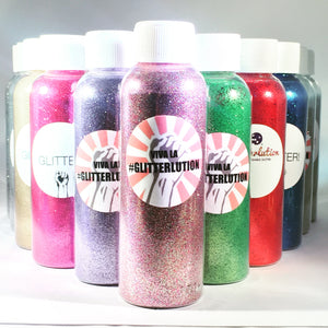 Glitterlution Biodegradable Glitter - 75ml bottles (50g) - Whole Range Multi-listing