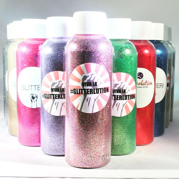 Glitterlution Biodegradable Glitter - 100ml bottles - Whole Range Multi-listing - 77 glitters to choose from!