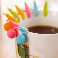 Colorful Snail Tea Bag Holder (5 Pieces)