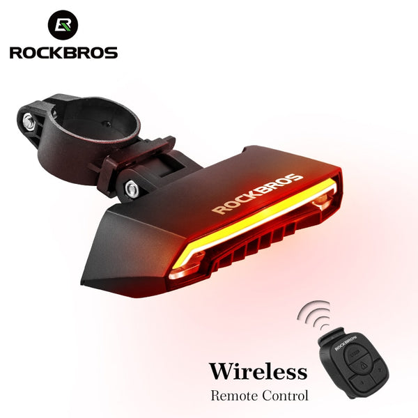 Bicycle Light USB Rechargeable Tail Light LED Warning Rear Lights Cycling Smart Wireless Remote Control Turn Signal