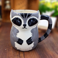 500ML Cute Animal 3D Fox Coffee Cup