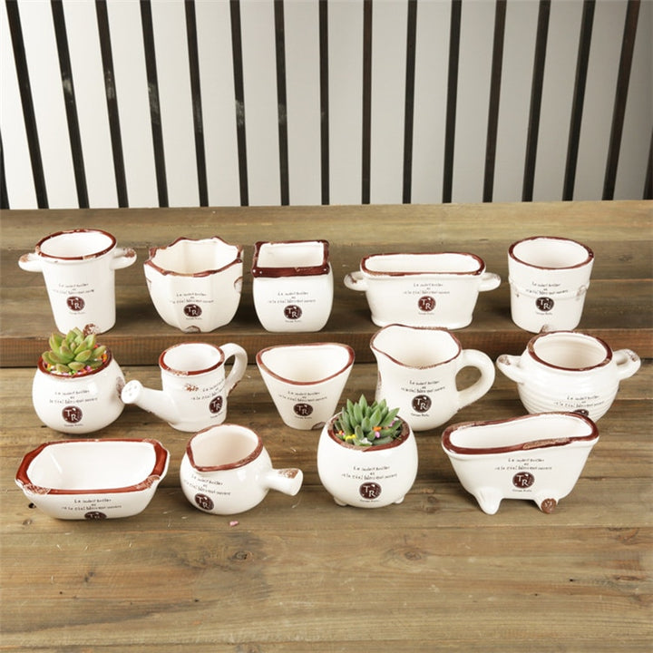 Mini Ceramic Plant Pots
