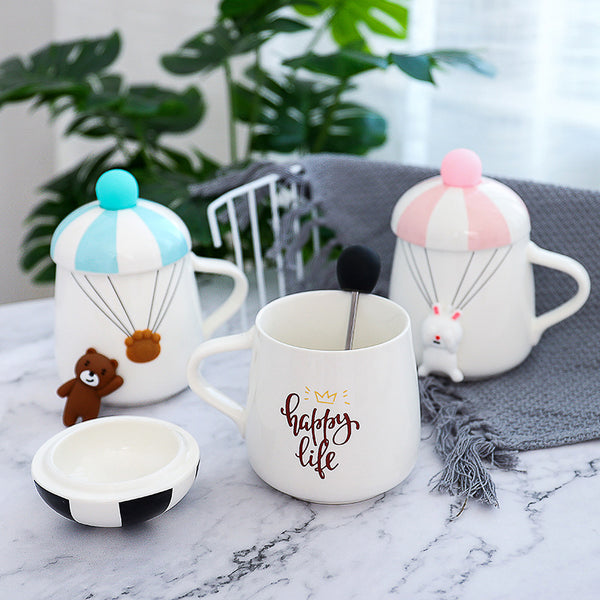 Creative 3D Rabbit / Bear Ceramic Coffee Mug