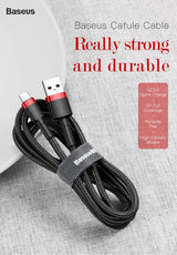 Baseus USB Type C Cable for USB-C | Fast Charging USB Charger Cable for Samsung Galaxy S9 S8 Plus
