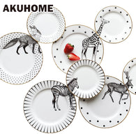 Animal Combined Plates Set Ceramic Plates