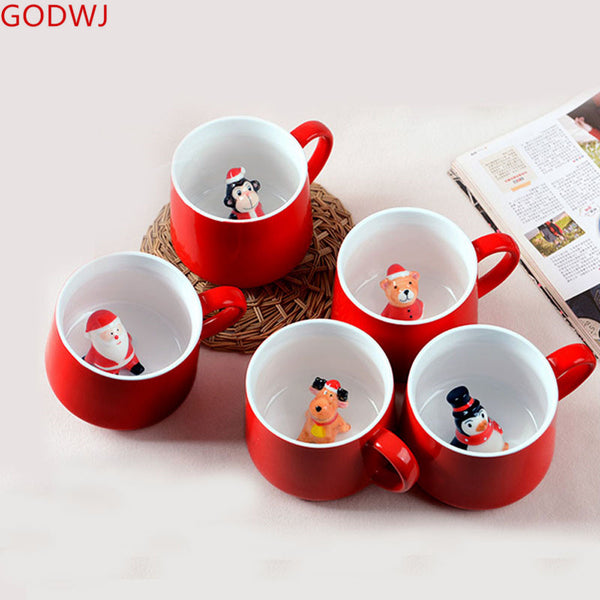 3D Creative Animal Christmas Mugs