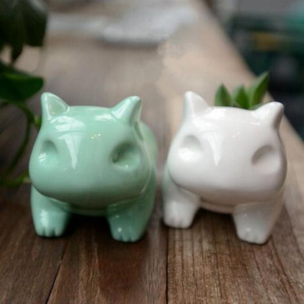 Cute Mini Ceramic Flowerpot