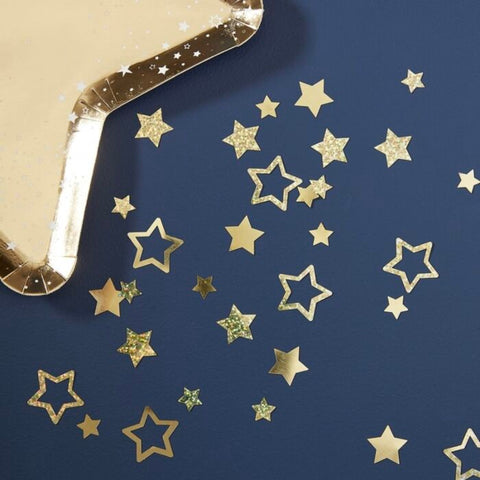 Gold foil Star Shaped Confetti