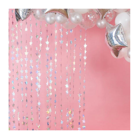 Iridescent Star Foil Curtain