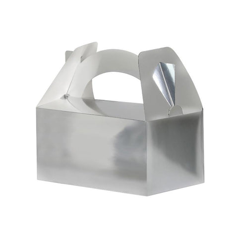 Silver Party Boxes - Pack of 5