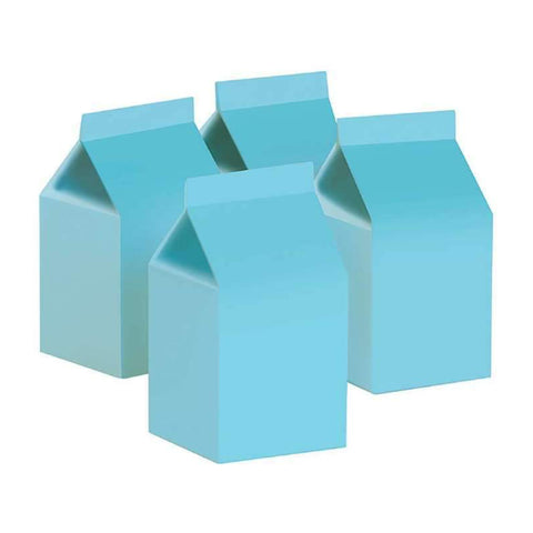 Pastel Blue Milk Box Cartons - Pack of 10