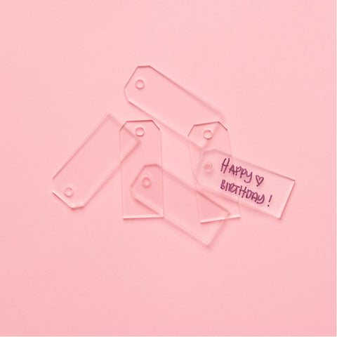 Acrylic Tag Set - Clear